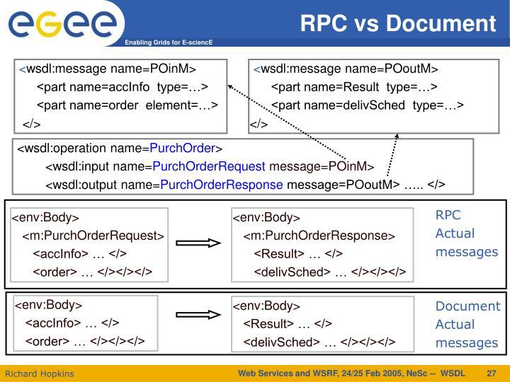 RPC vs Document
