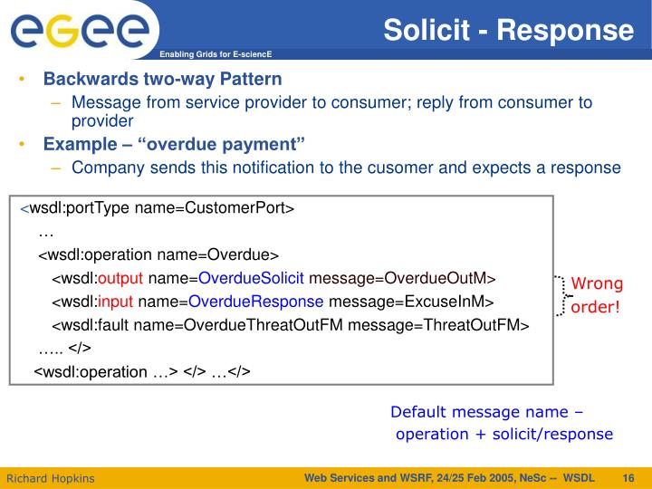 Solicit - Response