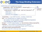 the soap binding extension