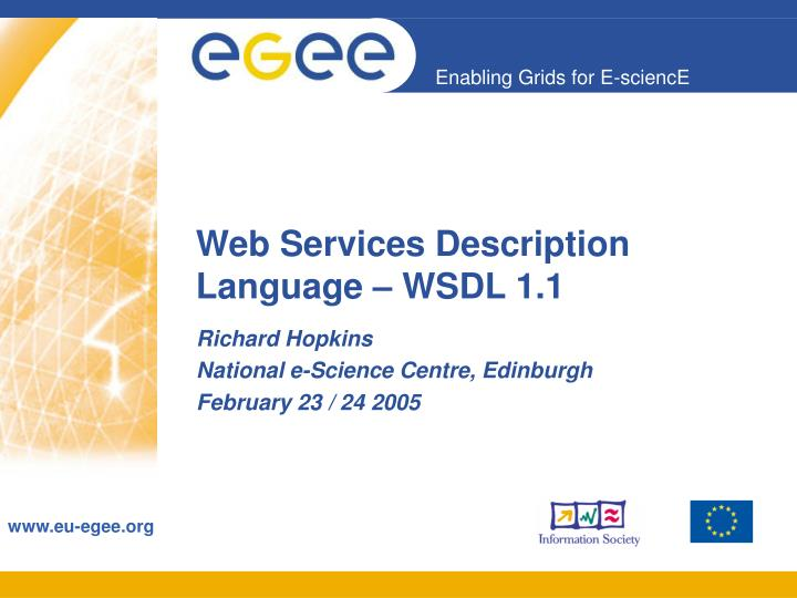 Web services description language wsdl 1 1