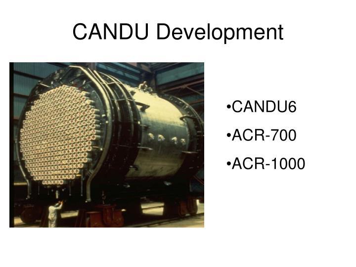 CANDU Development