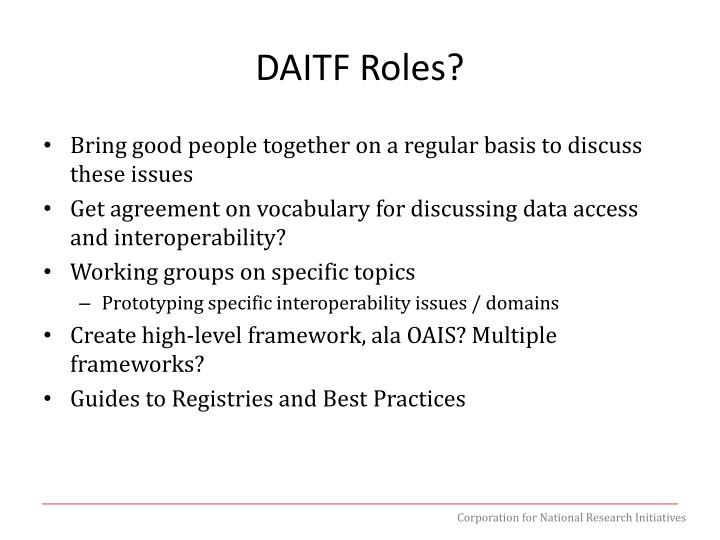 DAITF Roles?