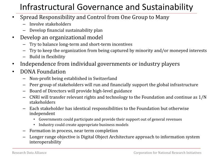 Infrastructural Governance and Sustainability