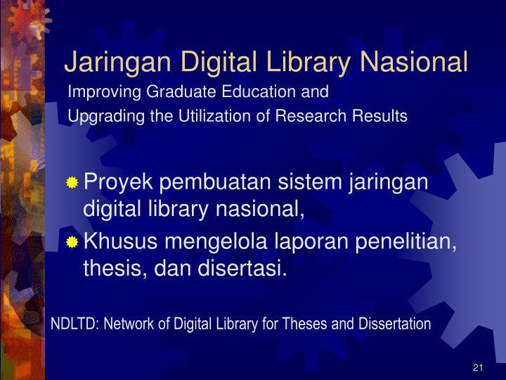 Jaringan Digital Library Nasional