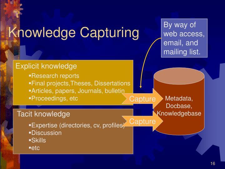 Knowledge Capturing