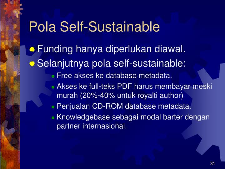 Pola Self-Sustainable