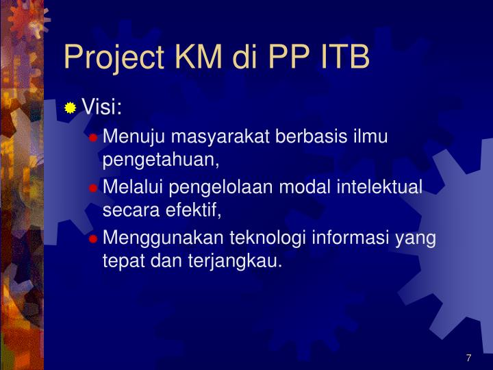 Project KM di PP ITB