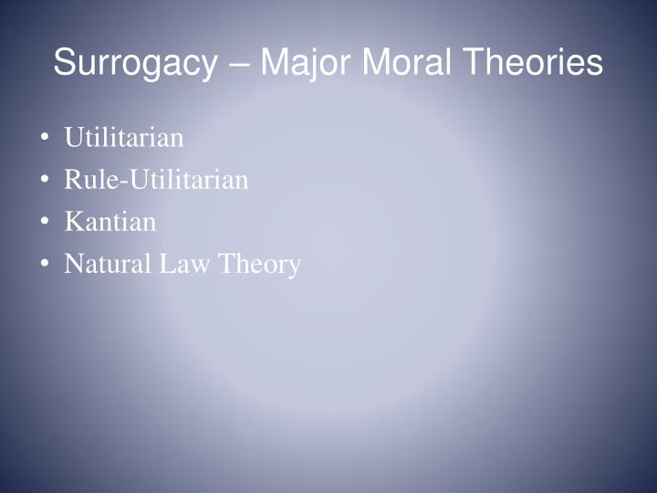 Surrogacy – Major Moral Theories