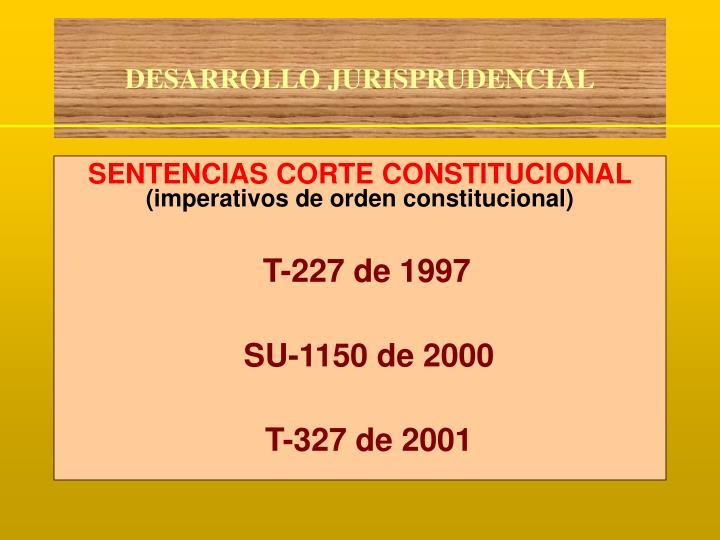 SENTENCIAS CORTE CONSTITUCIONAL