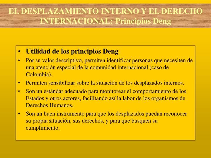 Utilidad de los principios Deng