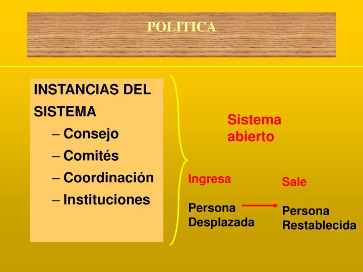 INSTANCIAS DEL