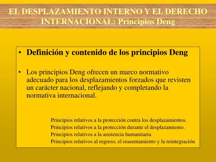 Definición y contenido de los principios Deng