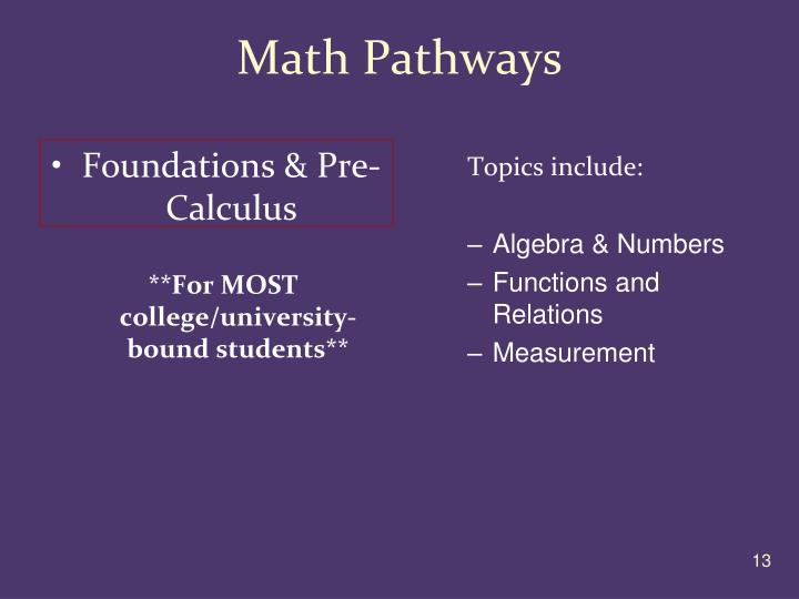 Math Pathways
