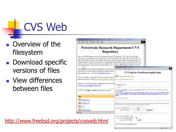 CVS Web