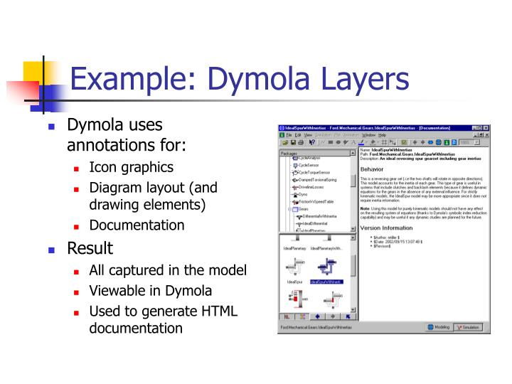 Example: Dymola Layers