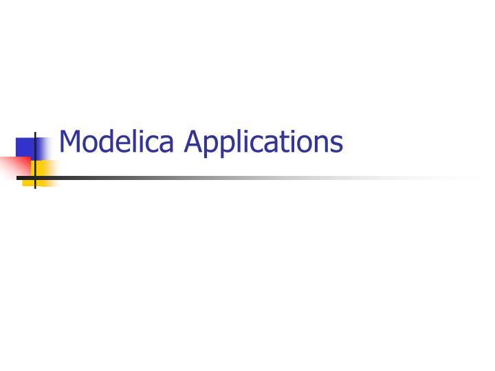 Modelica Applications