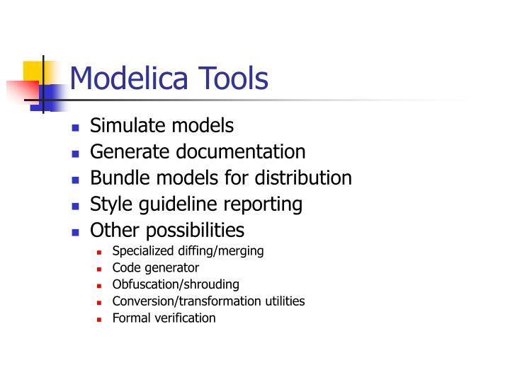 Modelica Tools