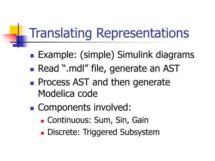 Translating Representations