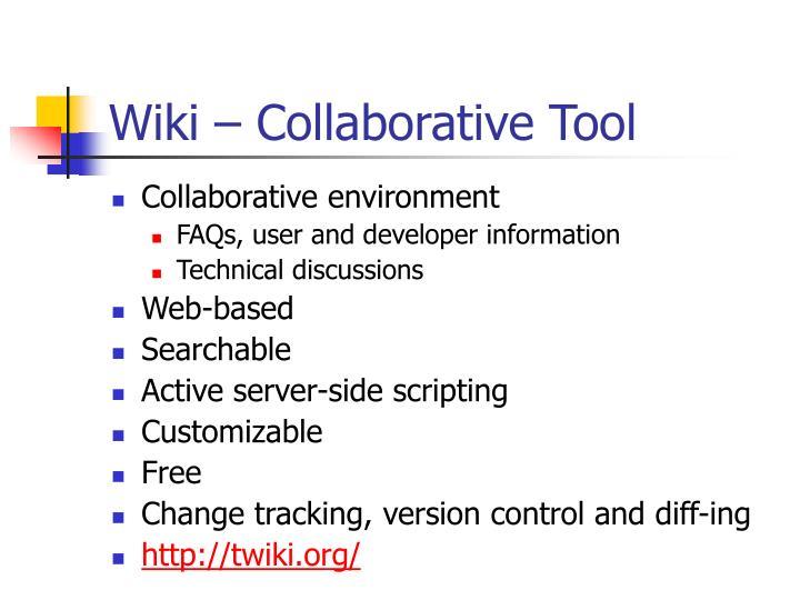 Wiki – Collaborative Tool