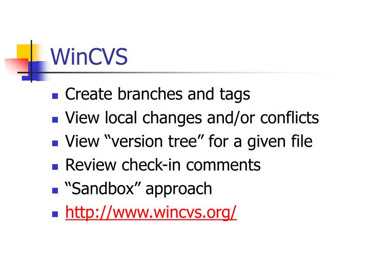 WinCVS