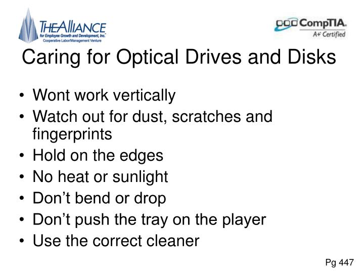 Caring for Optical Drives and Disks