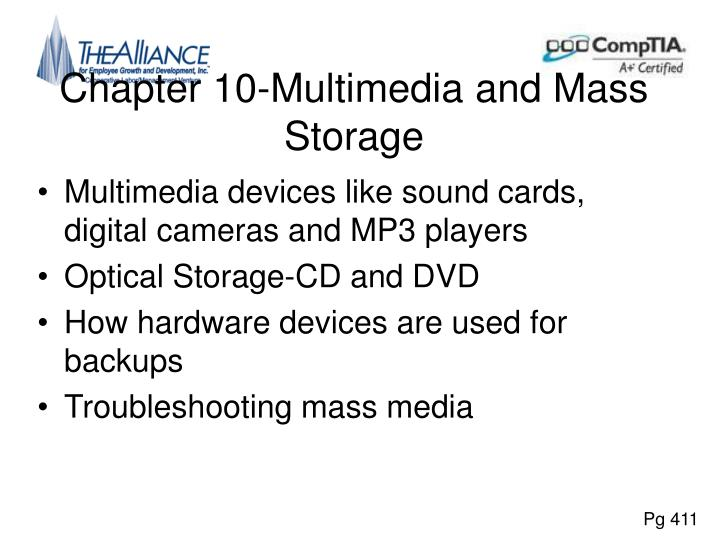 Chapter 10-Multimedia and Mass Storage