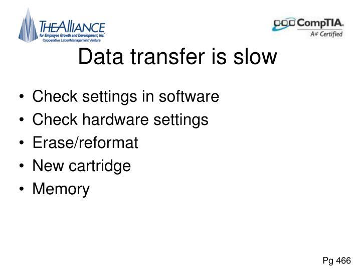 Data transfer is slow
