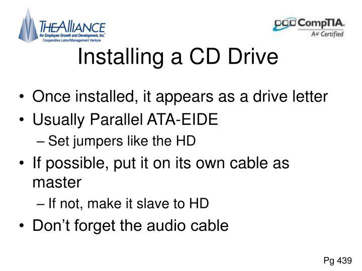 Installing a CD Drive