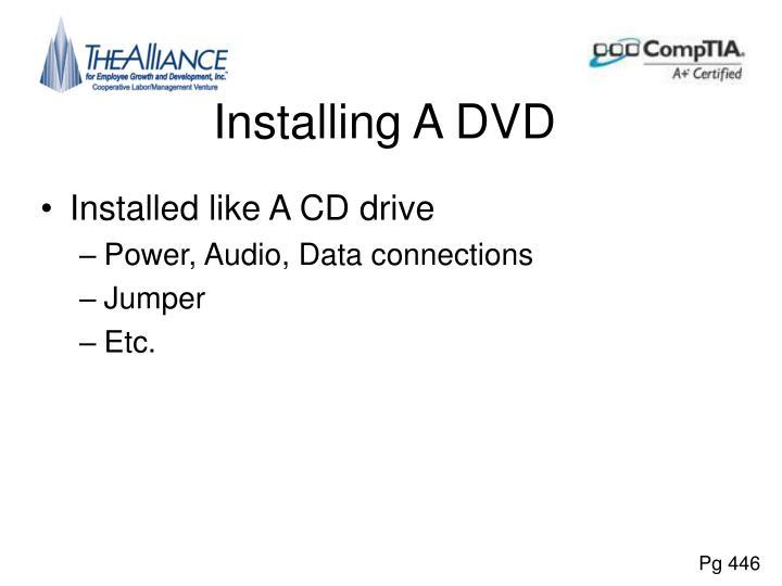 Installing A DVD