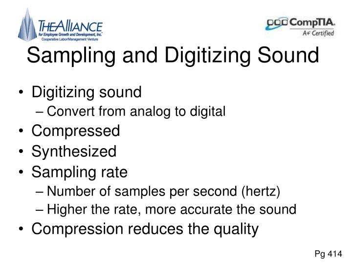 Sampling and Digitizing Sound