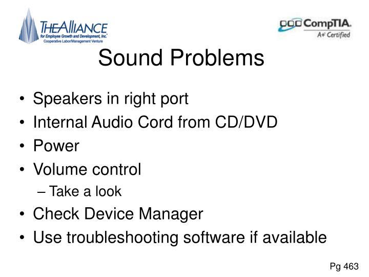 Sound Problems
