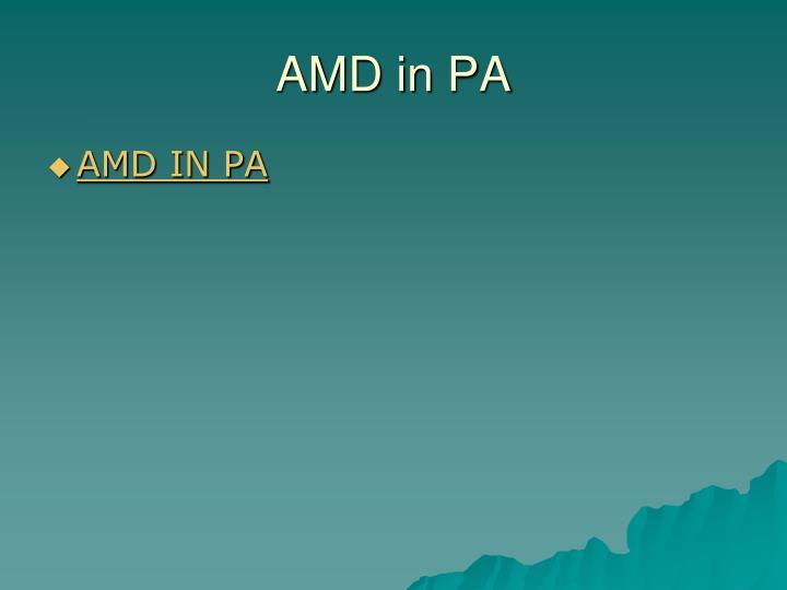 AMD in PA