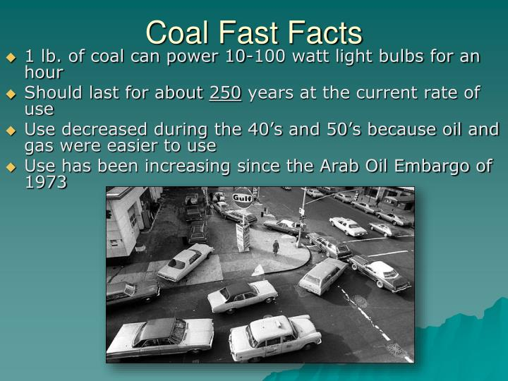 Coal Fast Facts