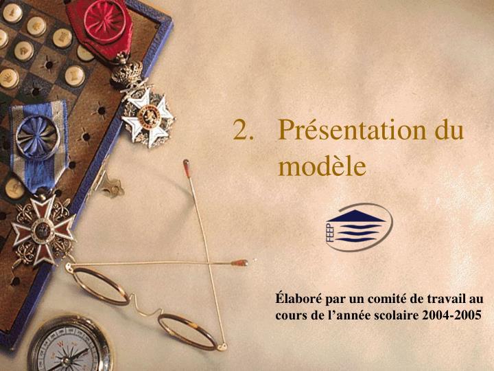 Présentation du modèle