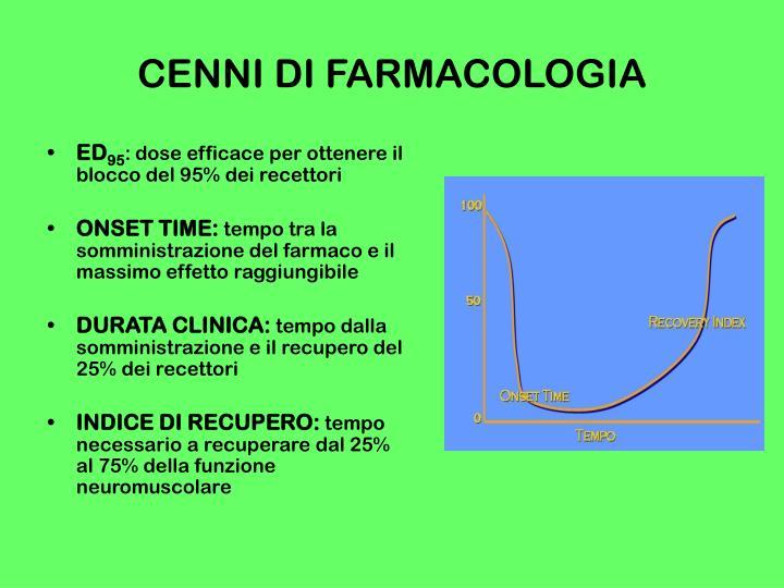 CENNI DI FARMACOLOGIA