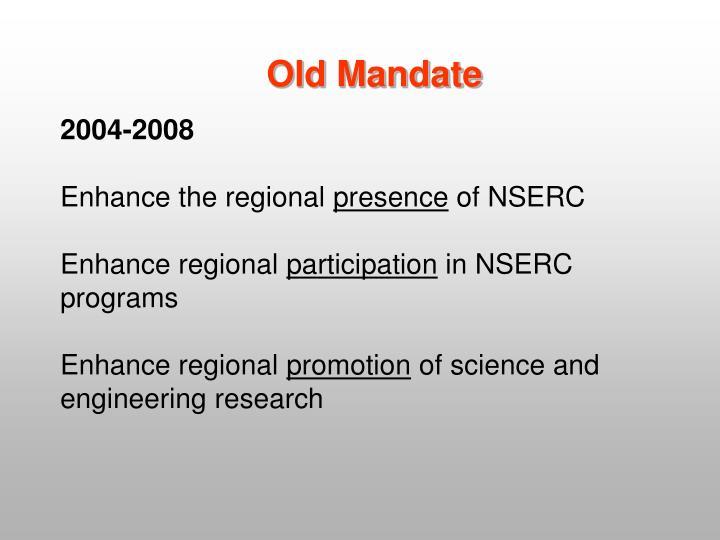 Old Mandate