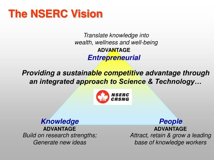 The NSERC Vision