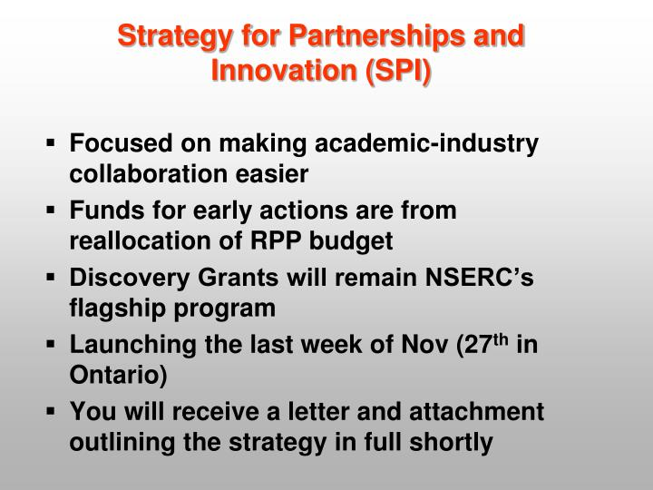 Strategy for Partnerships and Innovation (SPI)