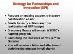 strategy for partnerships and innovation spi