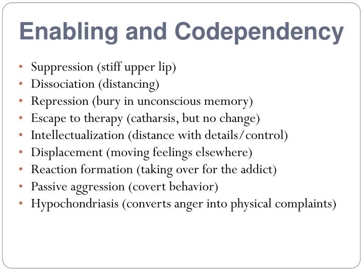 Enabling and Codependency