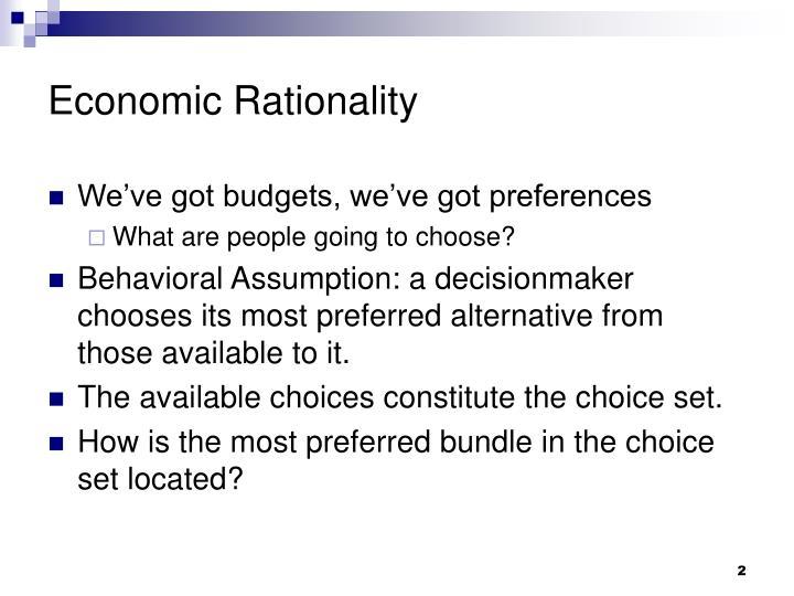 Economic Rationality