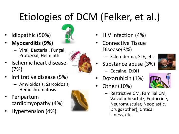 Etiologies of DCM (