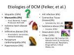etiologies of dcm felker et al