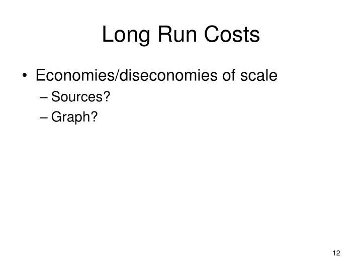 Long Run Costs