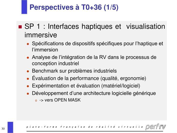 Perspectives à T0+36 (1/5)