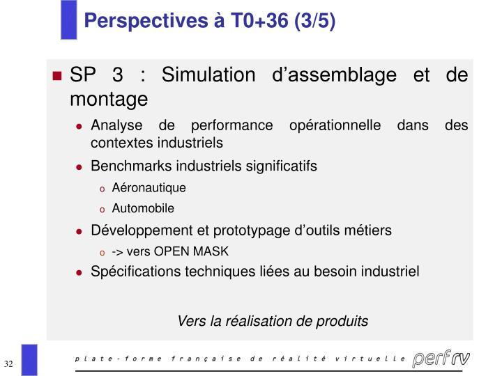 Perspectives à T0+36 (3/5)