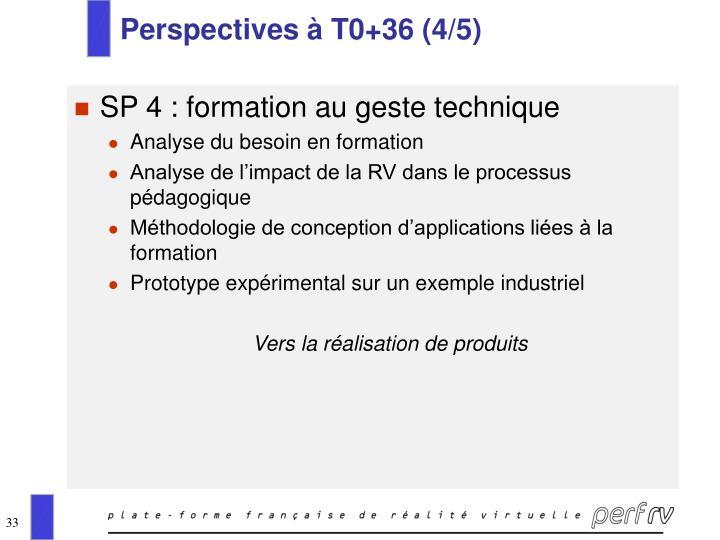 Perspectives à T0+36 (4/5)