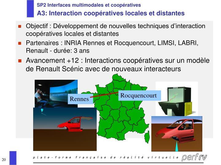 SP2 Interfaces multimodales et coopératives