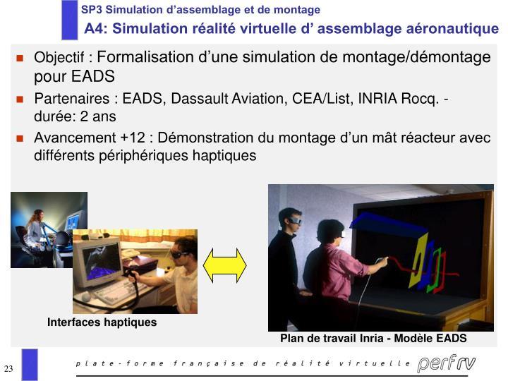 SP3 Simulation d'assemblage et de montage