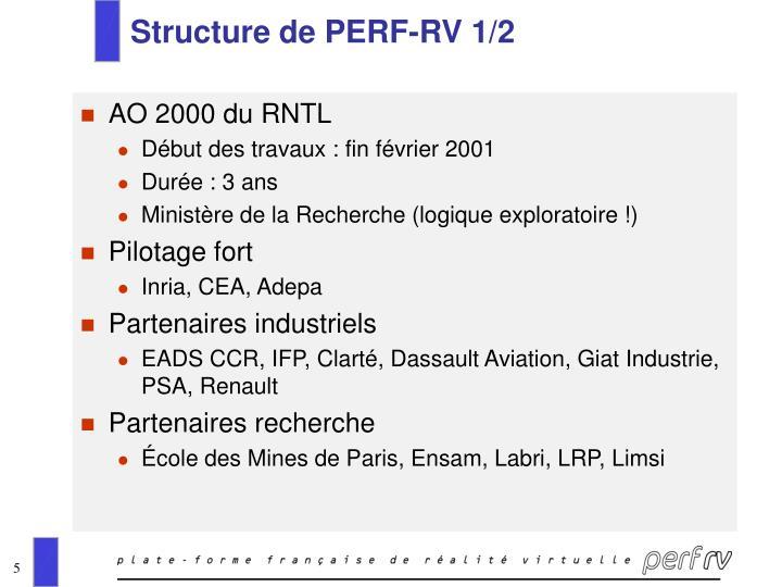 Structure de PERF-RV 1/2